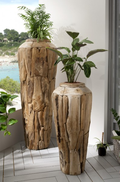 Vase aus Recycling-Holz