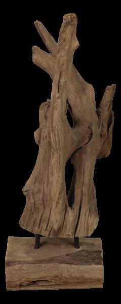 Holzskulptur aus Teakholz, jedes Stück ein Unikat