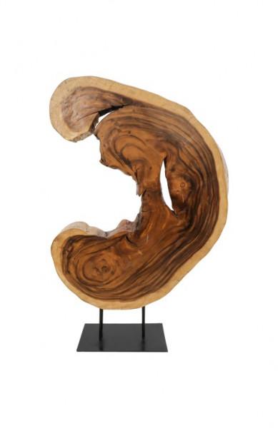 Deko-Baumscheibe aus Suar-Holz auf Metallständer *Unikat*