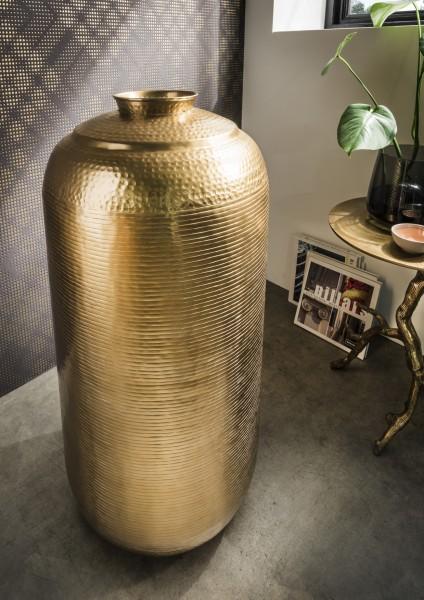 Bodenvase aus Aluminium, bronzegoldfarben