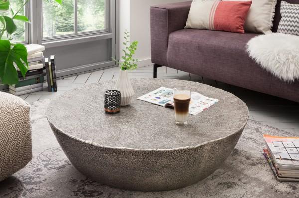 Couchtisch Aluminium Antik-Design, rund