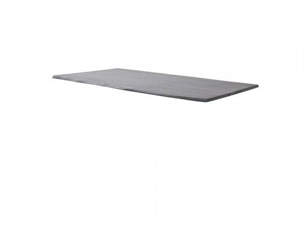 System Porto - Tischplatte Akazie grau sandgstrahlt, verschiedene Größen