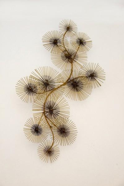 Wanddekoration Flower III aus Metall, Kupferfarbig