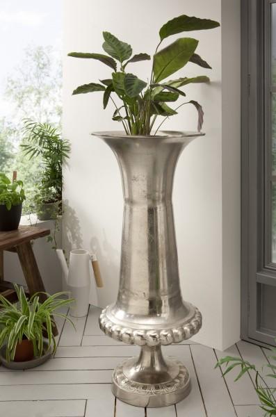 Bodenvase aus Aluminium, natur
