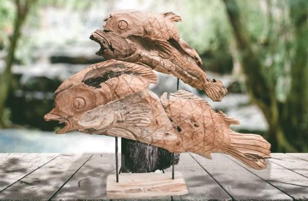 Deko-Fische auf Metallständer