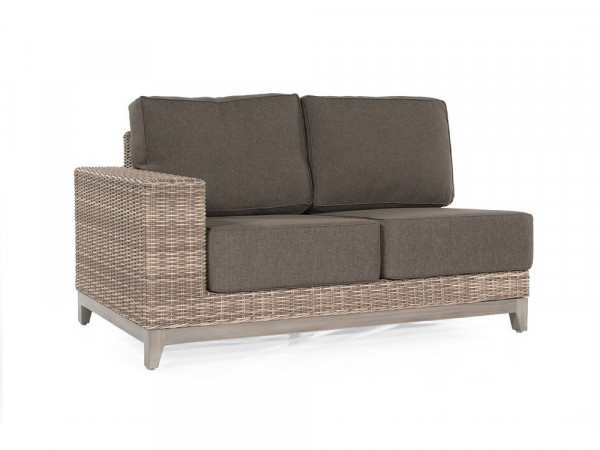 Sofa 2-Sitzer Eckmodul, white-coral, Serie Pisa
