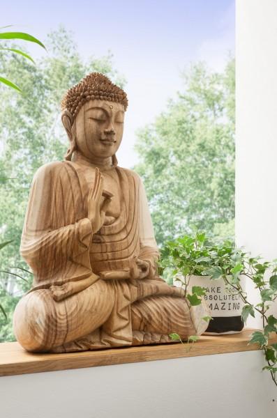 Buddhastatue II geschnitzt aus Suarholz, Unikat, handmade