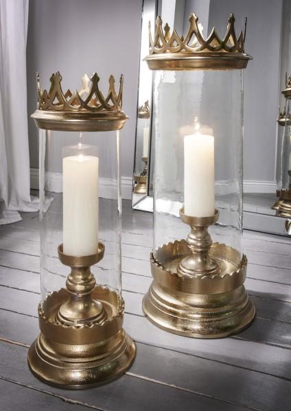Windlicht bronzegold, Crown