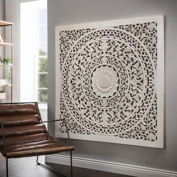 Wandbild aus Holz, white wash