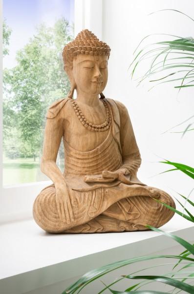 Buddhastatue geschnitzt aus Suarholz, Unikat, handmade