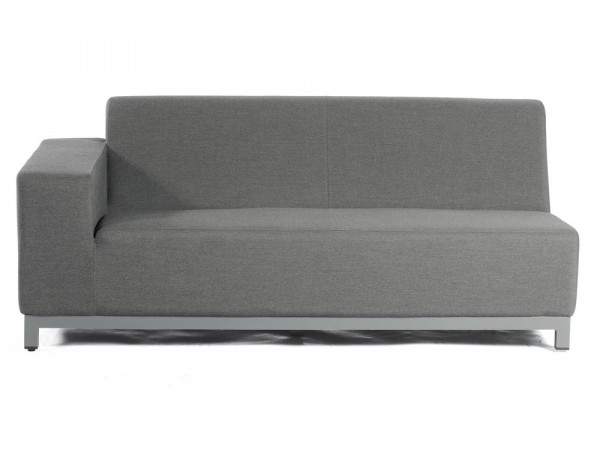 100% Outdoor-Sofa 2-Sitzer-Eckmodul, anthrazit, Serie Pure