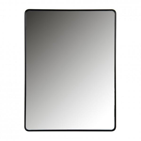 Wandspiegel mit mattschwarzem Stahlrahmen