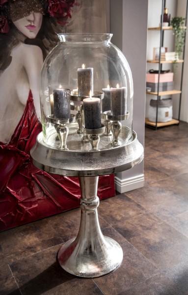 Kerzenständer vintage mit Glaskuppel II