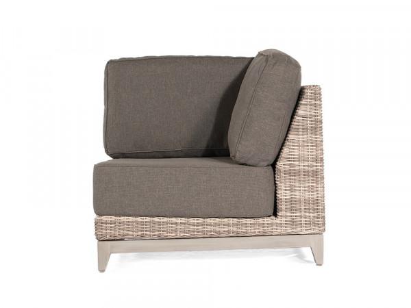 Sofa 1-Sitzer Eckmodul, white-coral, Serie Pisa
