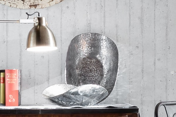 Deko-Schale Aluminium, Antik-Design, verschiedene Größen