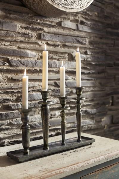 Kerzenhalter Vintage für 4 Stabkerzen