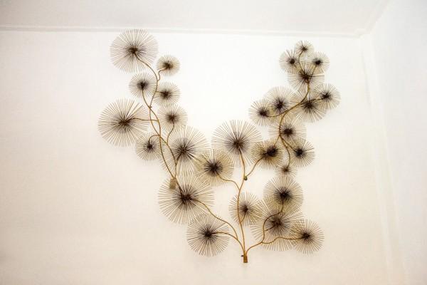 Wanddekoration Flower II aus Metall, Kupferfarbig