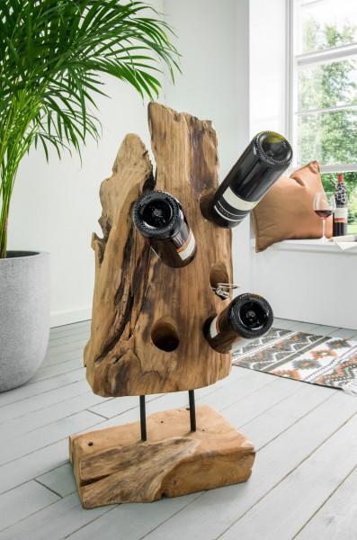 Weinflaschenhalter aus Recyclingholz, Unikat