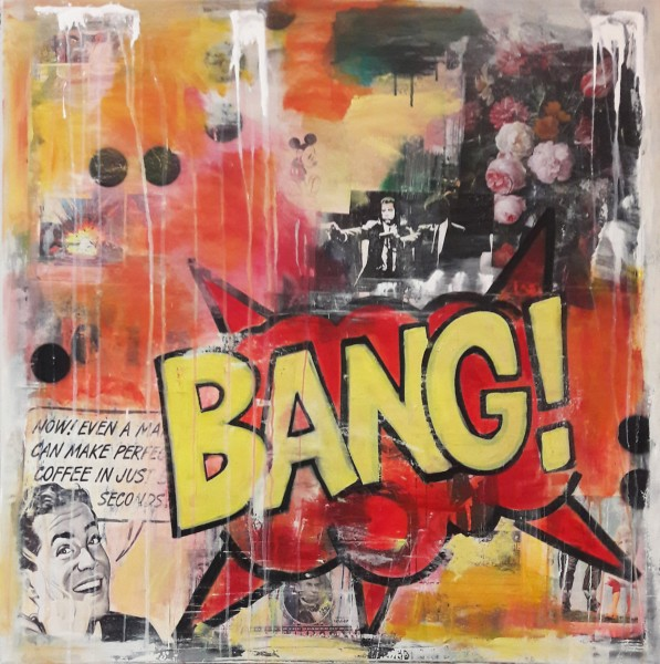 Leinwandbild, ART COMIC BANG