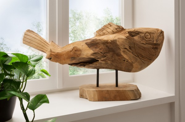 Deko-Fisch aus Recycling-Teakholz, Unikat, *handmade*