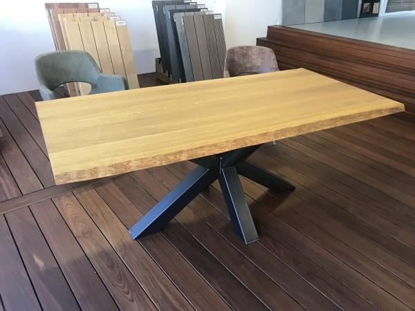 Eiche 4cm massiv, Farbe Pine, Gestell Mikado I