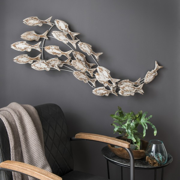 Wanddekoration Fischschwarm No. III