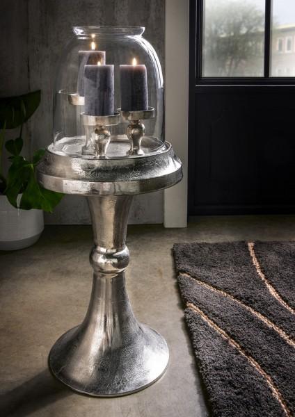 Kerzenständer vintage mit Glaskuppel