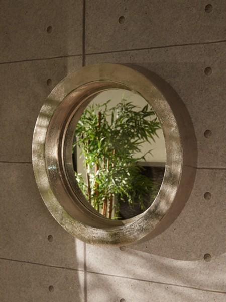 Wandspiegel rund mit Rahmen aus Aluminium