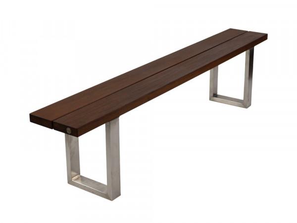 Outdoor Sitzbank Ipé mit Edelstahlkufen