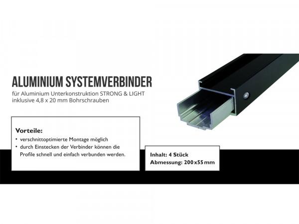 Aluminium Systemverbinder 4 St./VE