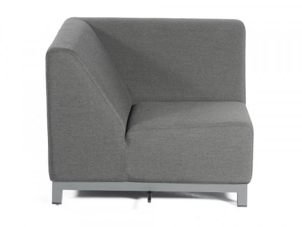 100% Outdoor-Sofa 1-Sitzer-Eckmodul, anthrazit, Serie Pure