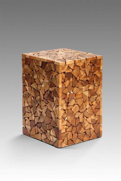 Beistelltisch / Hocker aus Recyclingholz