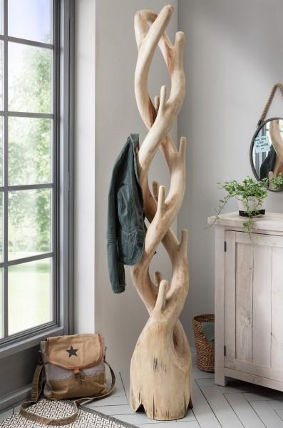 Kleiderständer / Garderobe aus Suar Spirale