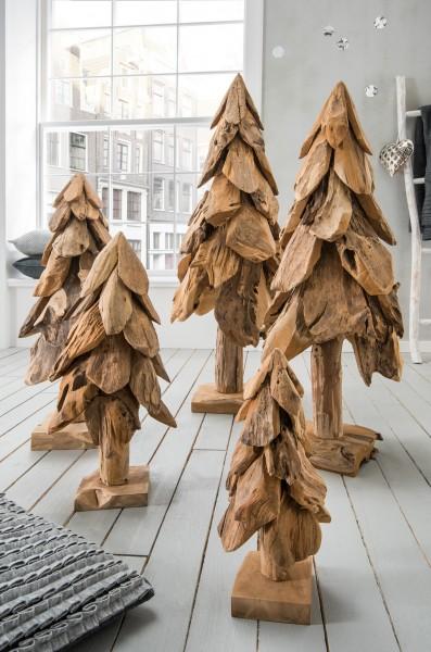 Deko-Tannenbaum aus Recycling-Teakholz