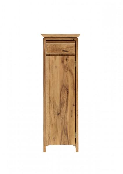 Pflanzsäule aus Wildeiche mit Schublade und Tür