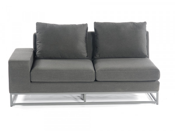 100% Outdoor-Sofa 2-Sitzer-Eckmodul, Serie Deluxe