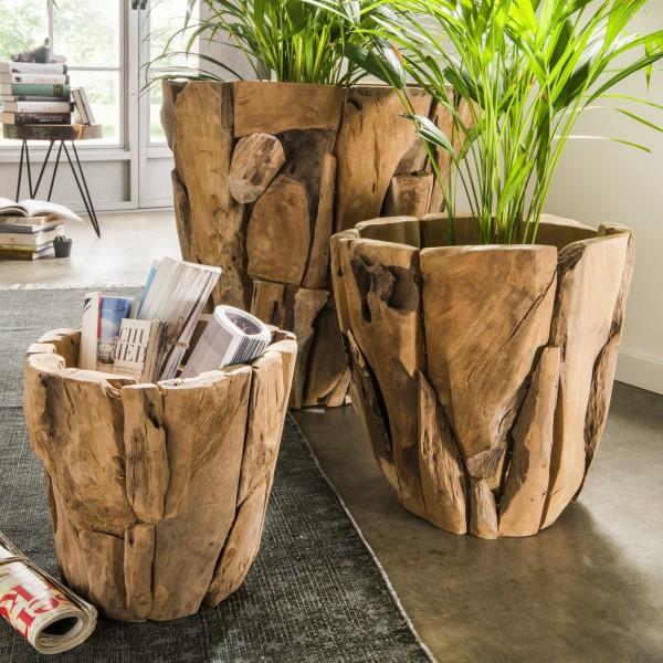 Holztopf / Blumentopf Recyclingholz