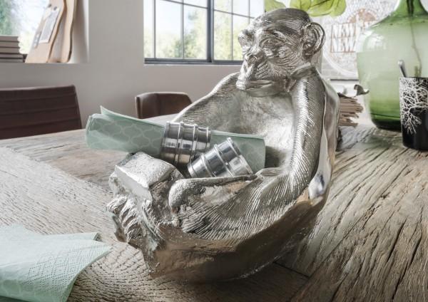 Aluminium Deko-Schale Affe