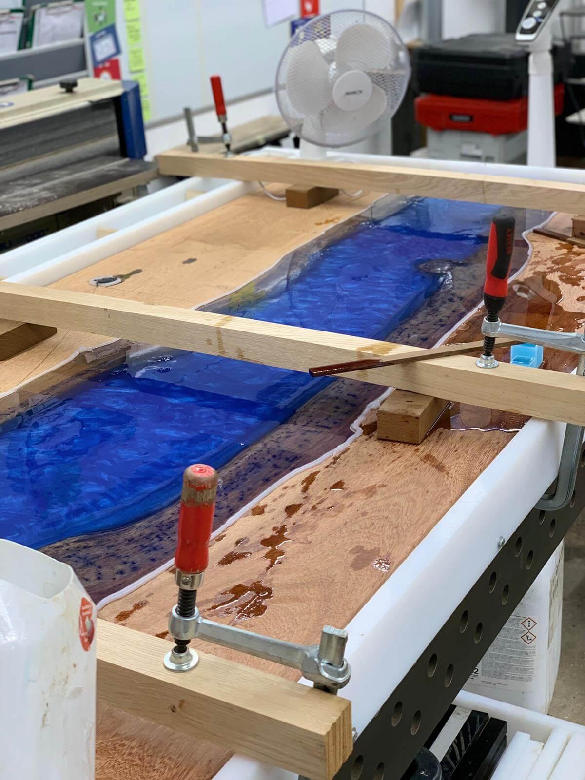 Epoxidharztisch Tischplatte Herstellung