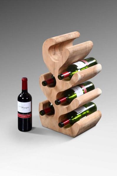 Weinregal aus Suarholz für 6 Flaschen