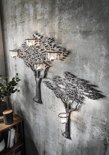 Wandbild Lebensbaum mit Teelichthaltern, verschiedene Größen
