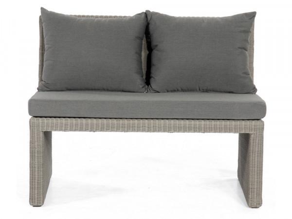 Sofaelement 2-Sitzer, steingrau, Serie Savanne