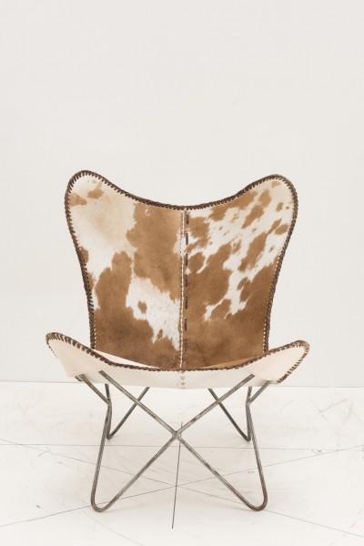 Sessel mit echtem Kuhfell