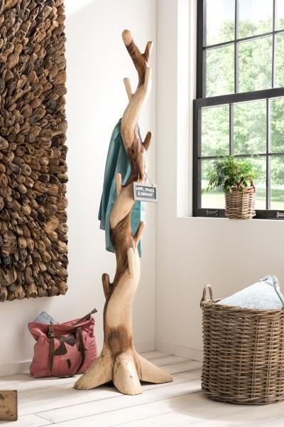 Kleiderständer / Garderobe aus Suar-Holz