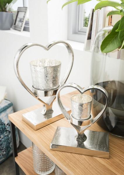 Teelichthalter in Herzform, verschiedene Größen