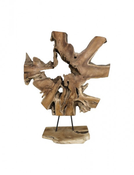 Holzskulptur aus Teakholzwurzel, jedes Stück ein Unikat