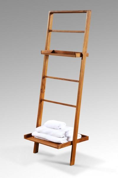 Badezimmerregal / Leiter aus Teakholz