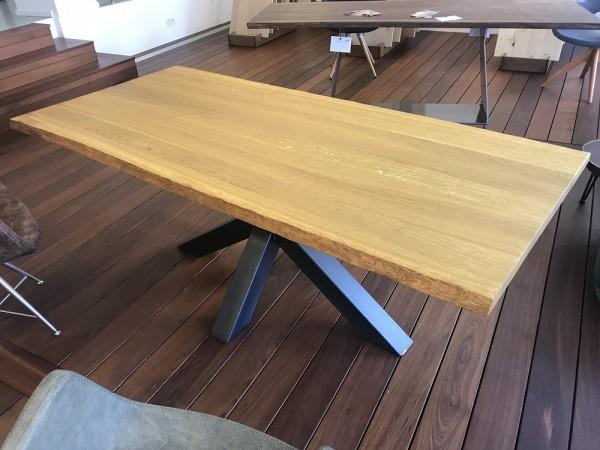Tischplatte Eiche massiv 4cm, Naturkante, Maßanfertigung