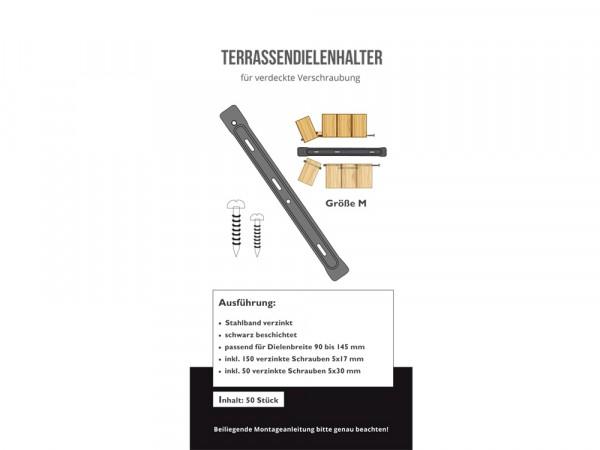 Terrassendielen-Halter für unsichtbare Befestigung