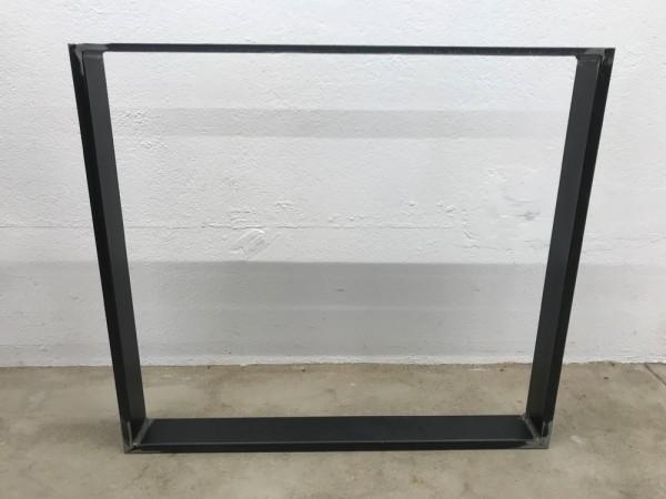 Tischgestell Simple I, Stahl klar lackiert